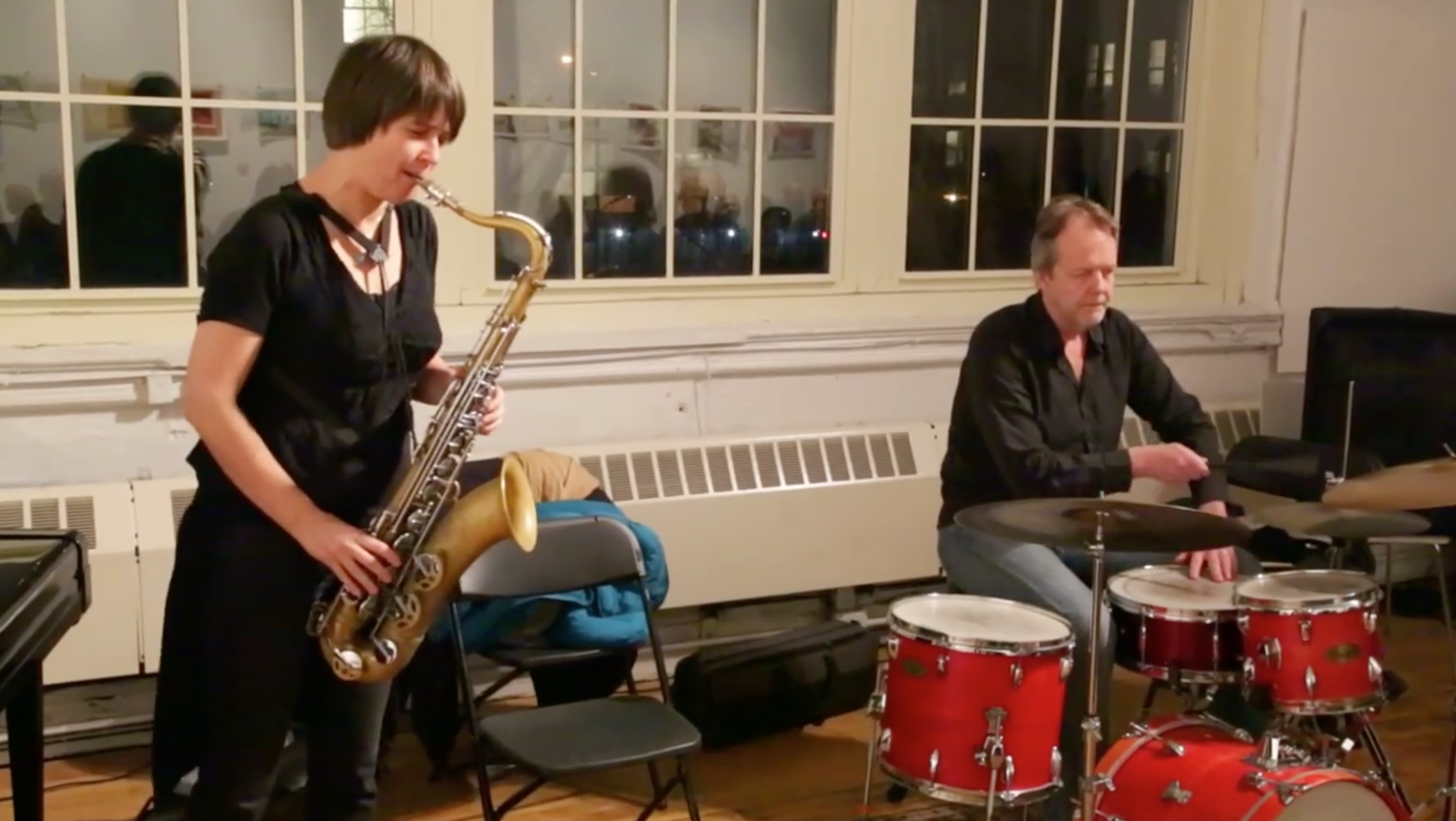 Ingrid Laubrock \ Tom Rainey Duo @ Arts For Arts (Not A Police State) [Jan – 04]
