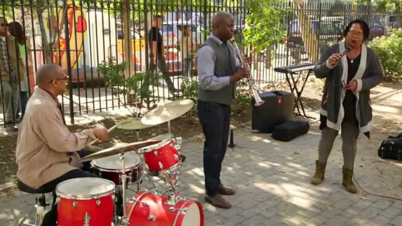 Fay Victor, Sam Newsome, and Reggie Nicholson Live at First Street Green (Un-columbus Day) 2015-10-12