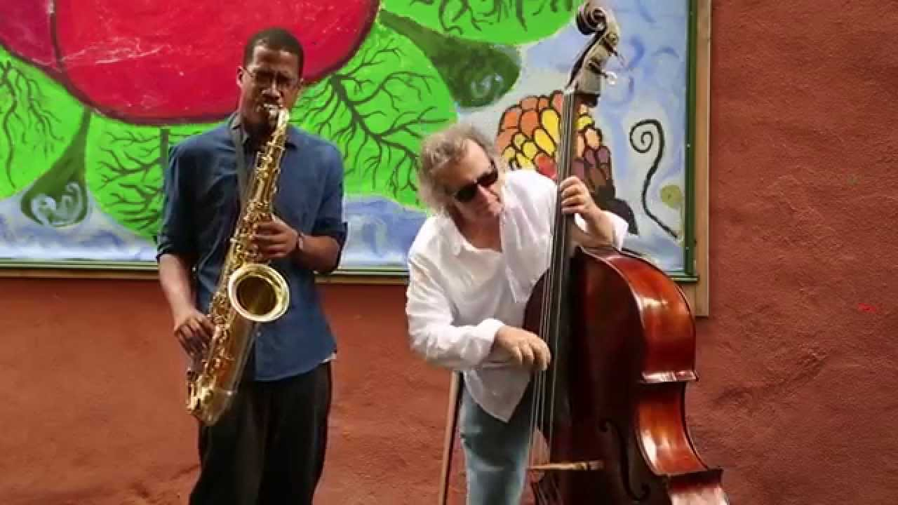 James Brandon Lewis and Michael Bisio Live in Gardens 2014-09-21