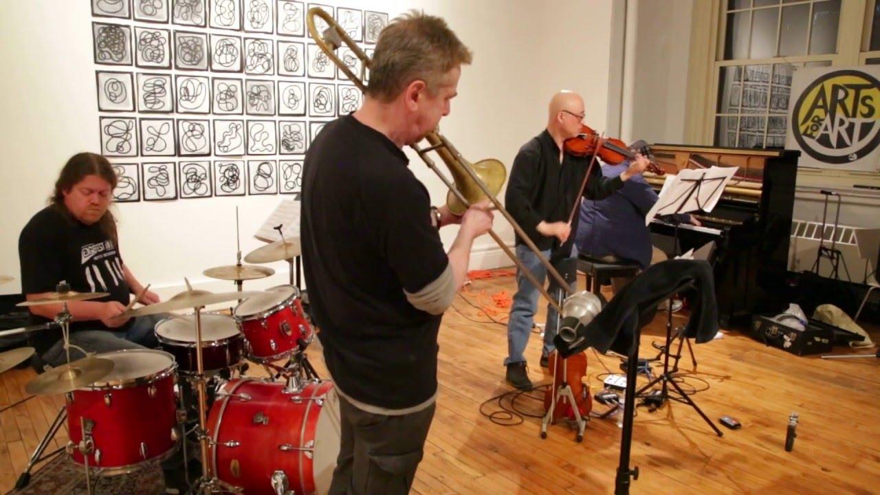 Jason Kao Hwang's Sing House Live at Arts for Art (NYC Free Jazz Summit) 2016-04-10