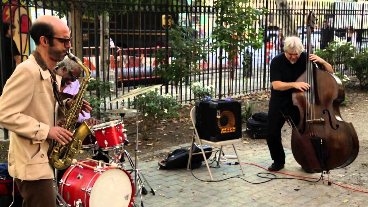 Michael Attias, Ken Filiano, and Michael T.A. Thompson Live at First Street Green (Un-columbus Day) 2015-10-12